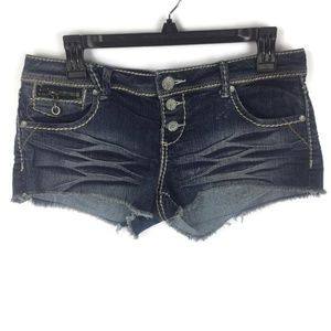 Almost Famous Short Denim Shorts Sz 9 Juniors